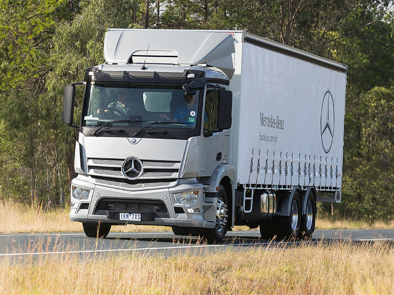 New generation. Mercedes-Benz rigid models are a critical part of an entirely new era for the Benz brand in this country